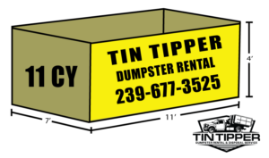 11 CY TIN TIPPER DUMPSTER RENTAL Cape Coral Fort Myers