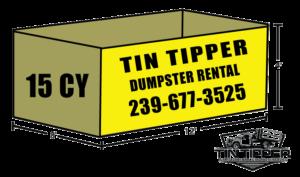 15 CY TIN TIPPER DUMPSTER RENTAL