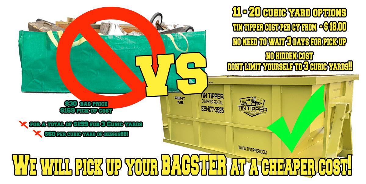 Bagster Vs Dumpster Debris Removal Pick Up