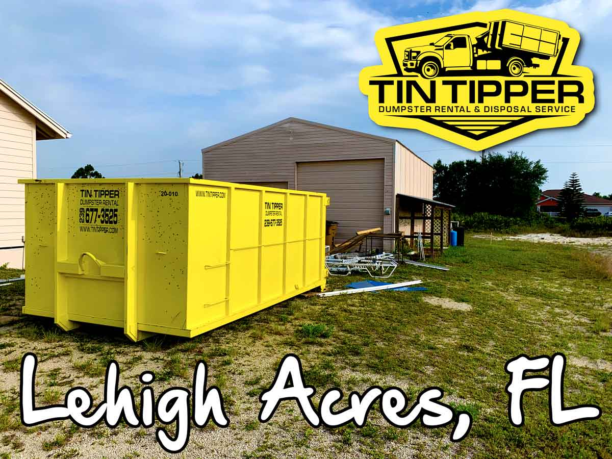 Lehigh Acres Florida Dumpster Rental by Tin Tipper
