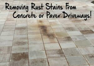 Removing rust spots from a paver driveway! Stubborn rust stains on driveways can be quite the headache. My name is Kevin and I am the owner of Tin Tipper Dumpster Rental. We are a busy dumpster rental company that mainly services residential home in cape coral. We stay on top of our dumpster by preventing rust spots on our customers driveway, however sometimes an unforeseen rust stain pops up. While it is in our rental agreement that this isn't our responsibility, I take our customer service very seriously. I always try to assure that when our customers are done with the dumpster rental, we have given them the WOW factor. As I write this tutorial on remove rust stains, Tin Tipper is currently at a 5.0 review rating on Google My Business! I am writing this after having to take care of a customer due to a heavy stain caused by one of our new dumpster that had a pin hole in the front. Evapo-Rust from Nothern Tool I happened to be at Northern Tool and saw this product call Evapo-Rust. While this product is highly rated for tool and other metal item rut removal, it did not work on the paver driveway. I used this product straight out of the bottle and poured it onto the rust stain, I also used a metal brush to penetrate the product into the pavers. The end result from this product after 3 applications was only about a 30% rust removal. This bottle cost just under $10. This is our go to process for rust removal on paver driveway. Here is what you will need to remove the rust stain completely off of the driveway, all of these items can be purchased from Home Depot : Hard Bristle brush Bucket Bar Keepers Friend Cleanser CLR Calcium, Lime and Rust Remover Garden Hose with plenty of H2O! My first attempt at this I figured I would just blast the stain away with a pressure washer. The rust stains on the pavers weren't phased at all by that attempt. Leave it stored away and follow this next few steps. I went to Home Depot to purchase some oxalic acid, however no one in my area sold just the powder concentrate. This product is however available online : Click here to see the oxalic acid powder product.  Mix the bar keeper powder approximately 1 cup to 1 gallon of warm water. Grab the brush and really scrub the product into the pavers and the heavy concentration of rust areas. I also spread powder directly from the container over the harder areas. this may take several coats for optimal rust removal. Remember that pavers and concrete are extremely porous, chances are the rust spots are really work themselves into the area.  As you can see from the picture above the driveway is starting to look normal however rust spots are still visible and the end product is not truly acceptable. Rust removing product CLR : Calcium, Lime, and Rust Remover This product has been my go to end product for rust stains and spots on concrete and paver driveways. A 28oz bottle of this chemical will however set you back around $22. Due to price of this chemical, I like to remove as much as possible with Bar Keeper, which is a $2 product. Here is how I have found this product to work best for me. I do not dilute the product and pour it directly onto the heavy rust stained areas. The instruction on the product inform you that you should rinse off the liquid after 2 minutes. This in my opinion is way to short of a period and doesnt allow the chemical to penetrate the rust spots that have worked there way into the porous pavers. I usually leave the chemical on the rust stains for at least 20 minutes to 35 minutes. I will also lightly scrub the CLR product throughout the area to ensure complete rust stain coverage. While I did not take a video of this process, take a look at the following YouTube video.  Rust Stain / Spots are complete gone! This clean up took me just over an hour. In my opinion, I will do whatever it takes to keep my dumpster rental customer completly satisfied with our service. Below you will see the finished product which is a completely removed rust stain!