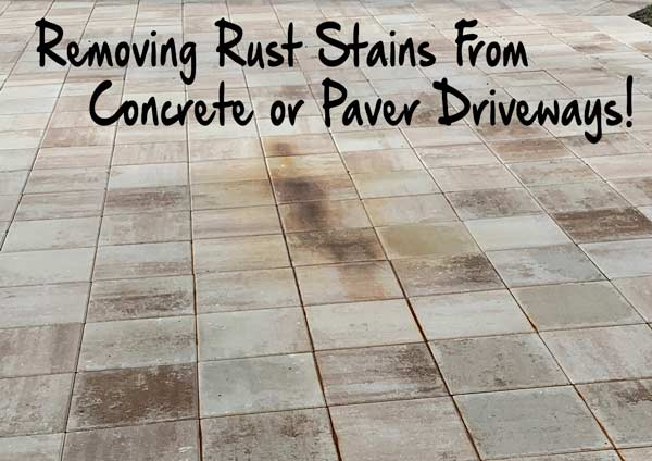 How To Remove Rust Spots From Pavers