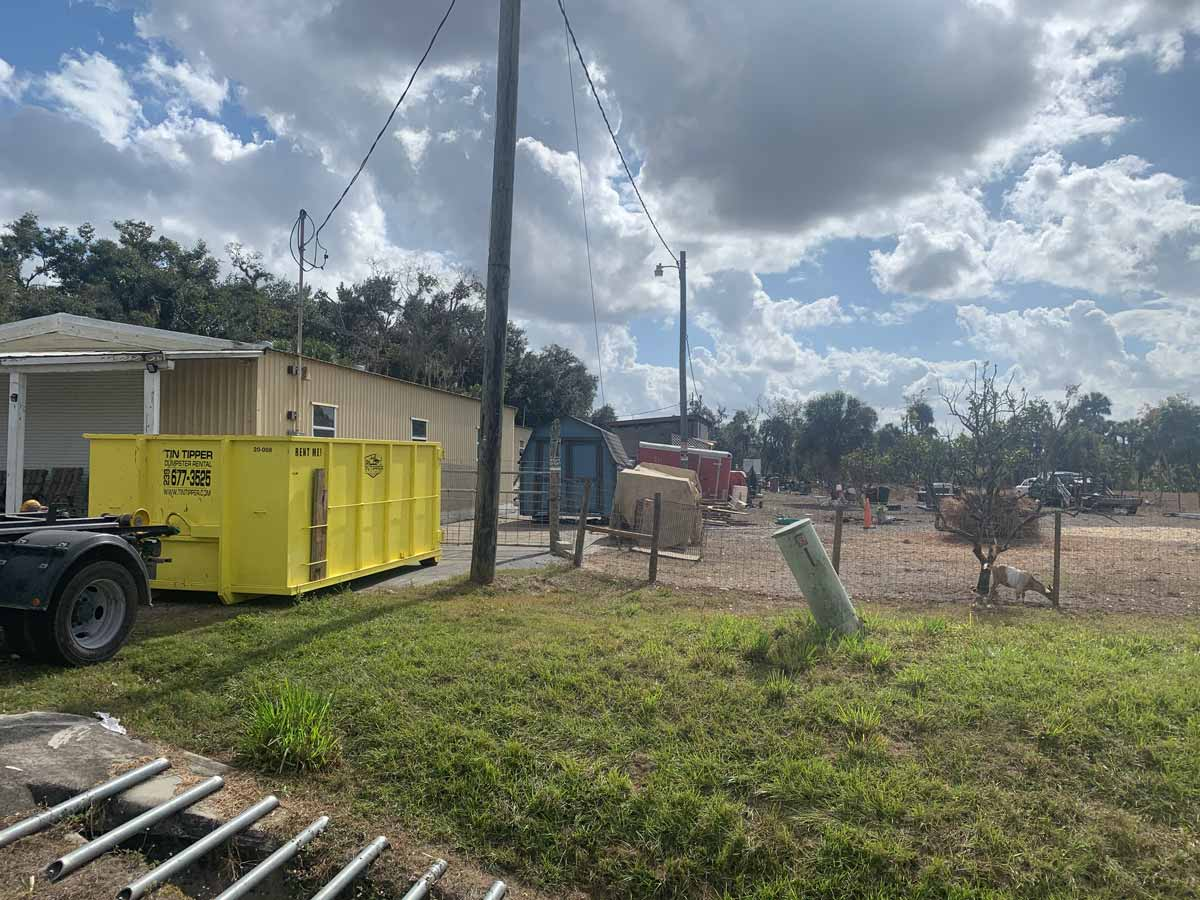 Farm-clean-out-in-alva,-florida-dumpster-rental-service-by-Tin-Tipper
